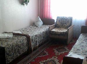 The apartment has 6 hospital beds, equipped with furniture,