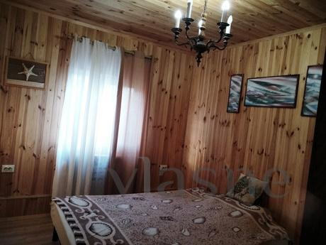 The new house is made of natural wood. 2 floors. 2 km from t